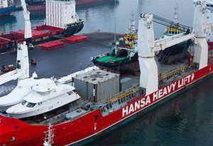 image: China Shanghai outsize cargo special projects Hansa heavy lift