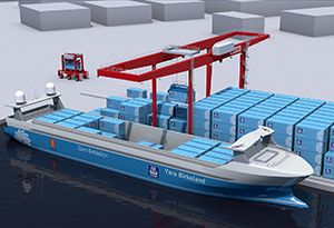 image: Finland Norway autonomous electric container vessel Yara Kalmar materials handling fertiliser