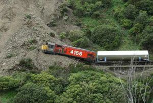 image: New Zealand road truck rail freight cargo