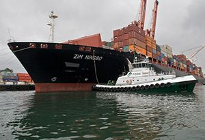 image: Israel Zim integrated shipping services container TEU freight rate rise ocean carrier