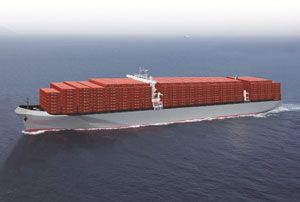 image: Japan Ultra Large Container vessels (ULCVs) TEU K Line shipping line