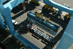 image: truck trucking Los Angeles Long Beach lorries Teamsters American drivers