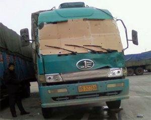 image: China truck trucking freight windscreen
