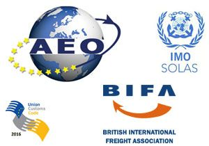 image: BIFA UK shippers forwarding agents AEO SOLAS container weighing freight Union Customs Code Authorised Economic Operator UCC logistics exporting importing