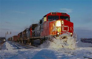 image: Canada rail freight shipping strike Teamsters Canadian National