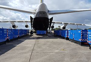 image: Antonov France Hurricane Irma Guadeloupe France air freight