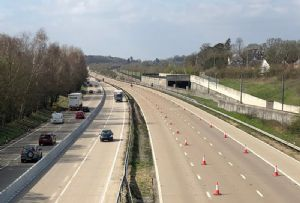 image: UK operation Brock Stack barriers removal freight road haulage