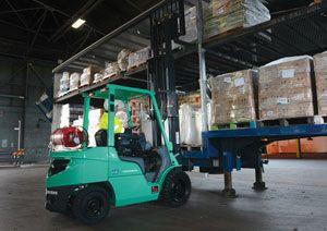 image: Essex UK Mitsubishi GRENDiA fork lift truck fuel freight logistics LPG