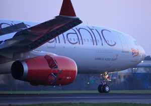 image: UK Virgin Atlantic Cargo air freight tonnes revenues load factor