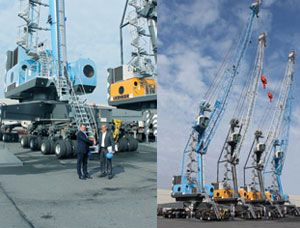 image: Algeria mobile harbour cranes ocean shipping port container freight bulk general cargo Liebherr