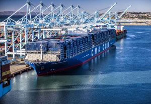 image: CMA CGM France Asia ultra large container ships freight vessels