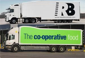 image: UK road haulage operator reefer box freight Dolphin pallet tonne