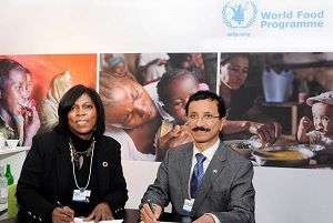 image: DP World freight logistics emergency response Maersk agility Davos UPS World Food Programme