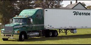 image: Nova Scotia truck freight transport logistics dry van refrigerated flat bed delivery