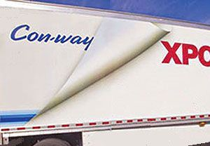 image: XPO logistics US freight forwarding trucking LTL Con-way Menlo