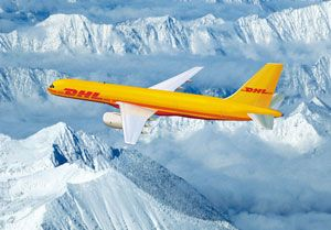 image: DHL France Germany overnight express freight US airfreight