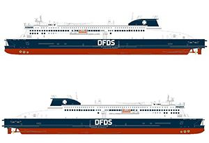 image: UK France Ro-Pax ferry Dover Calais Dunkerque freight passenger DFDS bareboat charter Stena RoRo