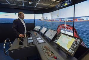 image: Finland Wartsila autonomous shipping vessels remote controlled navigation simulator