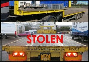 image: England Northern Ireland Ashcroft step frame trailer stolen shipping container