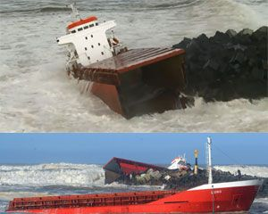image: Luno France freighter cargo vessel Biarritz Basque d�partement des Landes emergency environmental