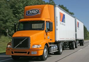 image: US LTL truck freight cargo handling YRC logistics
