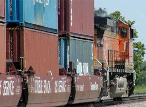 image: Europe rail freight intermodal terminal wagon intramodal