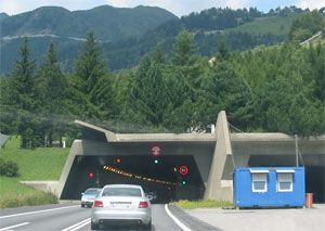 image: Erstfeld, Ripshausen, Swiss, Switzerland, Gotthard, truck, vehicle, tunnel, road, freight, Italian, loads, lorries, transit, facility, centre, operators, checks,