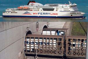 image: SCOP France UK MyFerryLink RoRo freight ferry Channel Eurotunnel SeaFrance merger