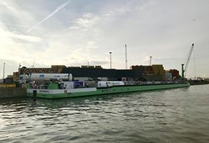 image: Belgium road haulage LNG fuelling ocean freight liquefied natural gas cargo Fluxys Antwerp