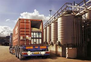 image: UK flexitank bulk liquid freight shipping