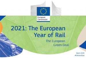 image: European Year of Rail freight 2021 EU ERFA Europalia Green Deal Objectives