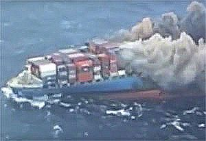 image: Japan MOL Comfort container ship cargo sank caught fire ClassNK Technical Committee