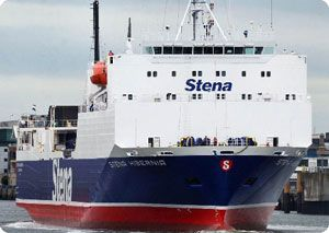 image: Irish Sea Stena freight RoRo ferry cargo levels DFDS