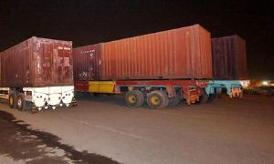 image: container, freight, import, export, transport, India, ports, logistics, depot, new, Delhi, Maa, Anandmayee, Marg, traffic, trade, depot, facility, trailers, congestion, loads, return