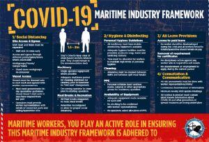 image: Australia Maritime Union Covid-19 intermodal logistics stevedores