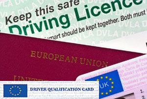 image: UK freight road haulage operator DCPC certificate professional competence DVSA transport association