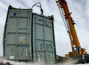 image: Denmark Maersk Container Industries shipping containers forty foot boxes test reefer