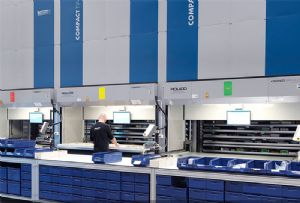 image: Sweden Weland Solutions warehouse management systems Compact store put to light logistics