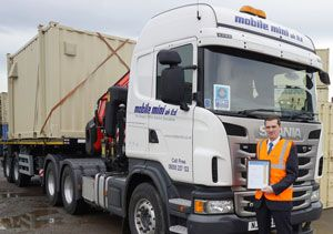image: UK London FORS road haulage operators Fleet Operator Recognition Scheme TNT