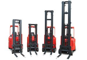 image: UK Germany Australia fork lift truck logistics Jungheinrich Flexi Narrow aisle