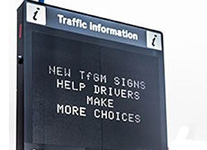 image: Manchester truck drivers traffic signs