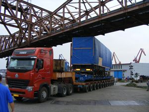 image: UK Japan project freight heavy lift forwarder trailer