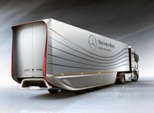 image: Belgium truck semi trailer articulated freight vehicle Germany