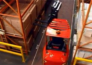 image: Flexi very narrow aisle fork lift trucks materials handling training hire supply chain website