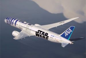 image: Japan ANA Star Wars� Project All Nippon Airways freight Dreamliner 789-7