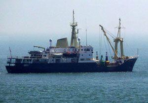 image: UK eLoran GPS container ship