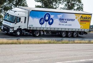 image: UK France Fraikin hybrid truck technology braking kinetic energy logistics London road haulage