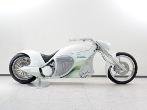image: Siemens Schenker global logistics warehousing Smart chopper electric motorcycle