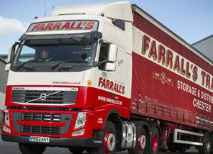 image: Farrall�s road haulage logistics freight operator recognition scheme Silver status bronze artic fleet van