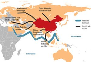 image: China Belt and Road shipping forwarding trade transport policy